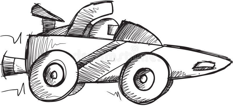 Doodle samochodu wyścigowego wektor ilustracja wektor