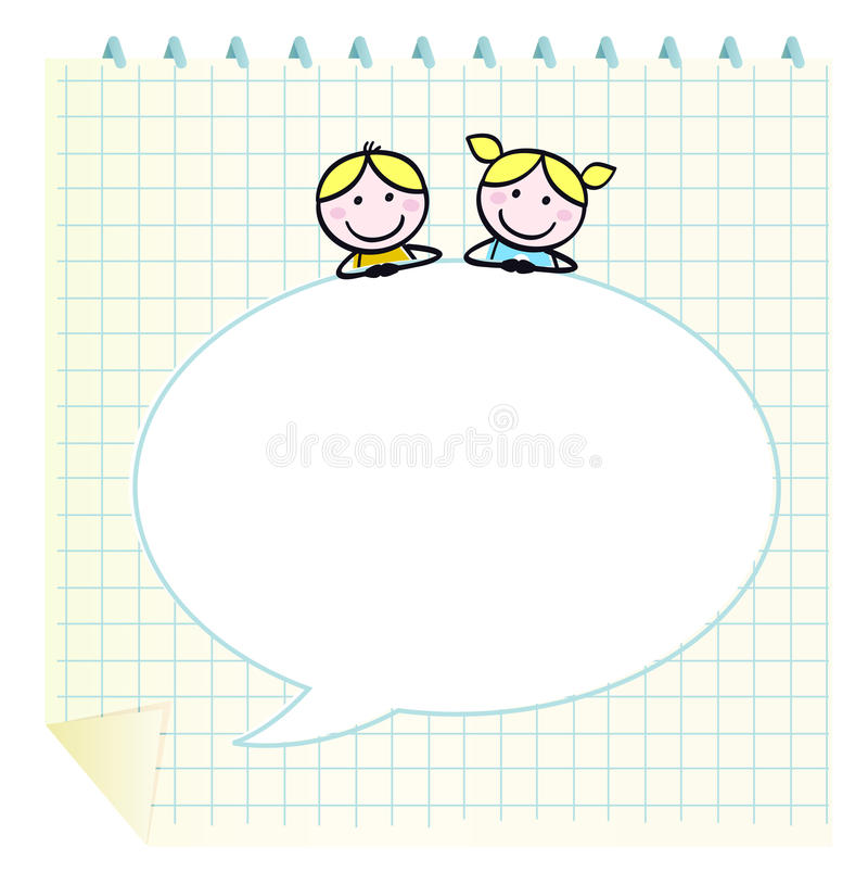Download Doodle School Children With Notepad. Stock Image - Image: 20854421