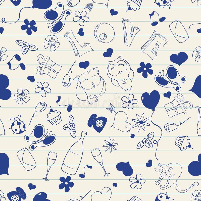 Doodle_seamless illustration de vecteur