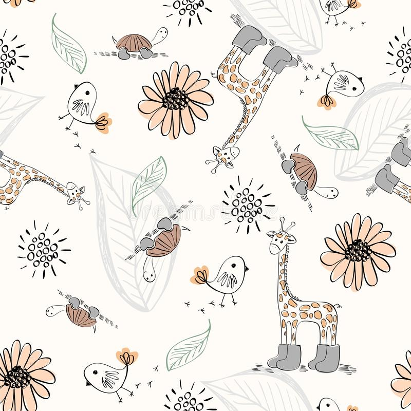 Download Doodle seamless pattern stock vector. Illustration of cute - 23655875