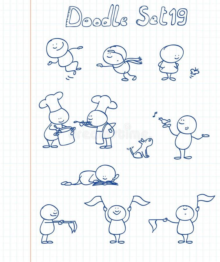Doodle set 19 vector illustration