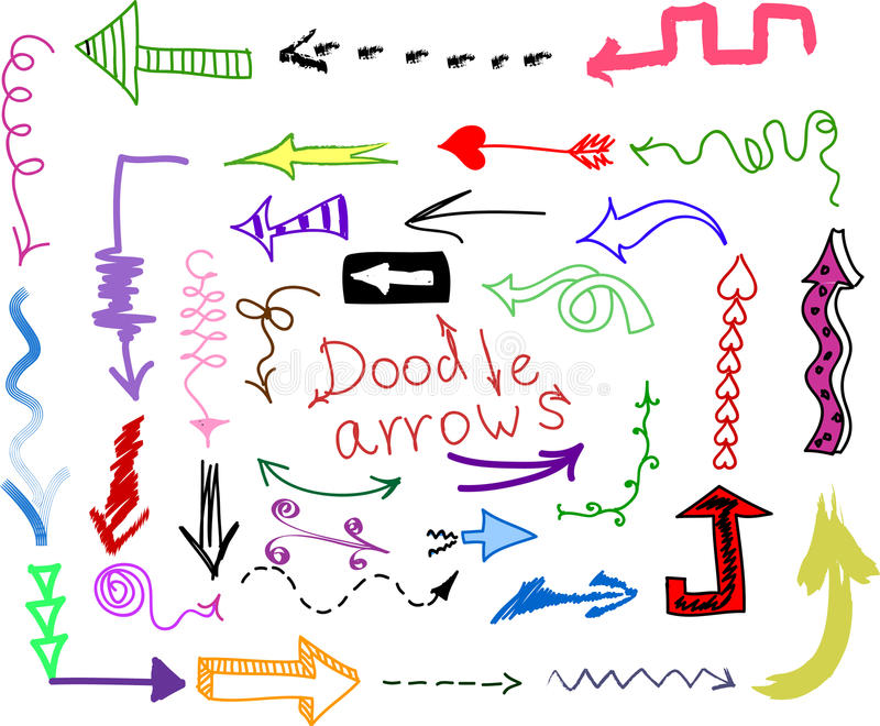 Doodle set - arrows, vector vector illustration
