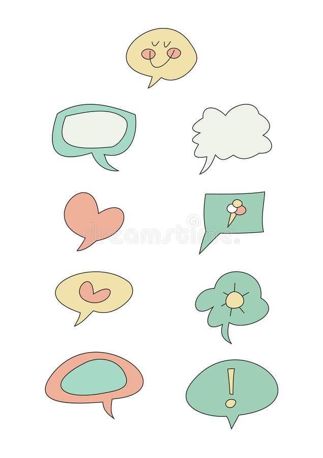 Download Doodle Set: Speech Bubbles Stock Images - Image: 25739464