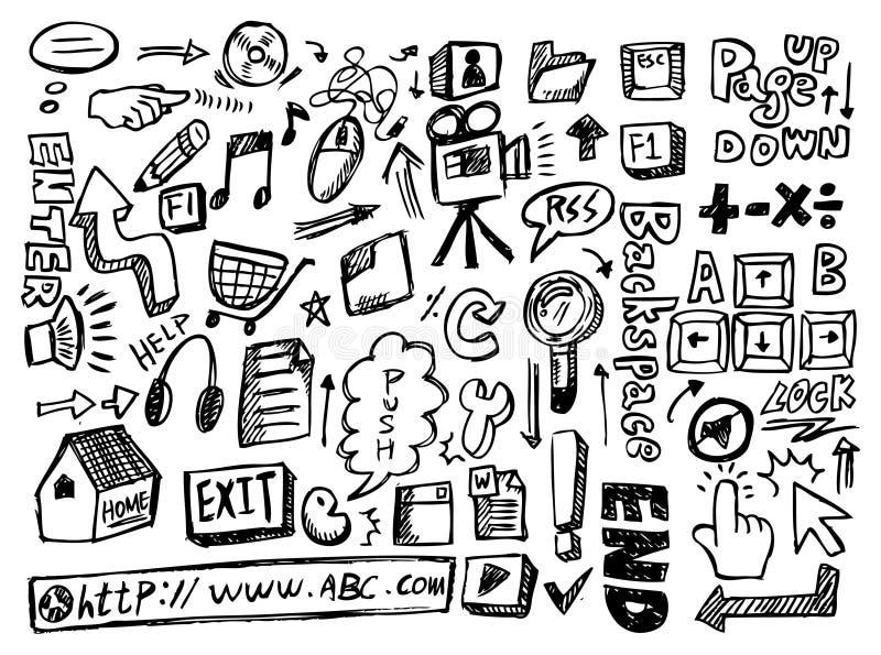 doodle sieć royalty ilustracja