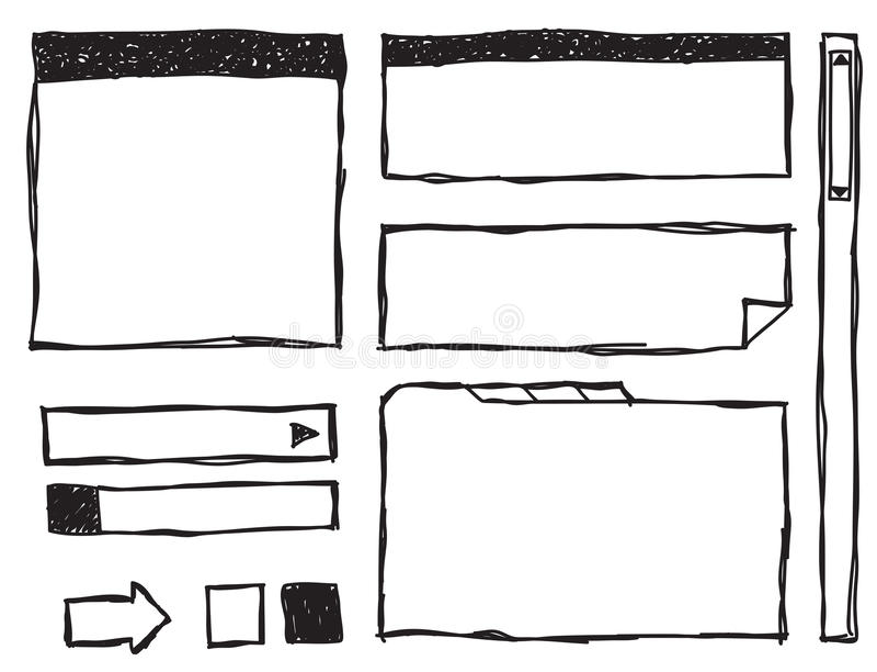 Doodle sieci elementy ilustracji