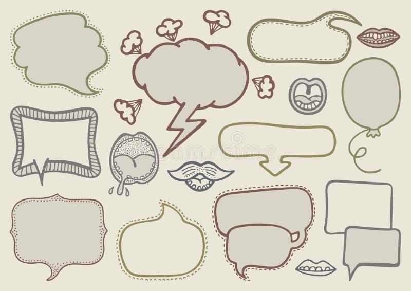 Doodle Speech Bubbles Stock Photography