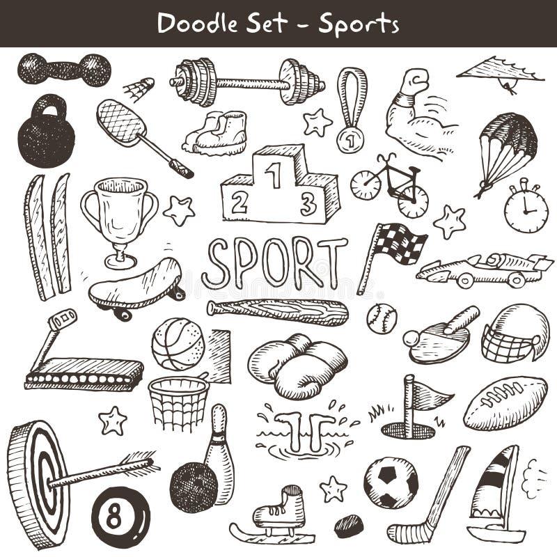 Doodle sporty. royalty ilustracja
