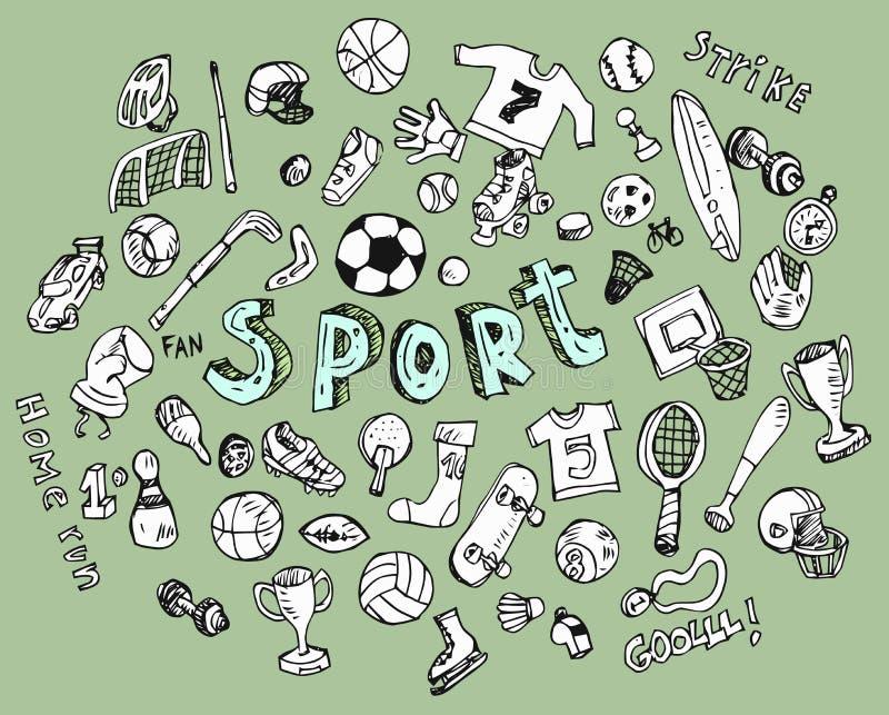 Doodle sporty royalty ilustracja