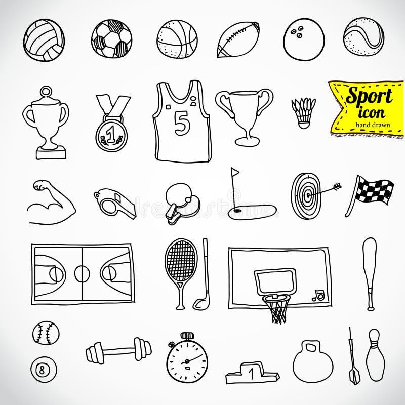 Doodle sporty. Wektorowa ilustracja. royalty ilustracja