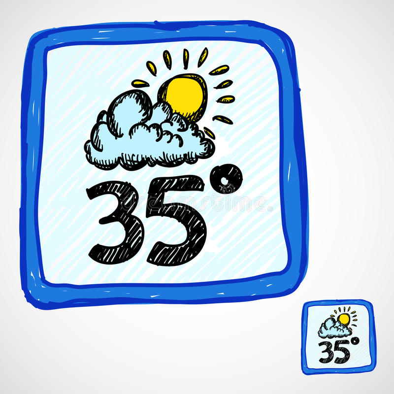 Download Doodle style weather icon stock illustration. Illustration of cloud - 27605790