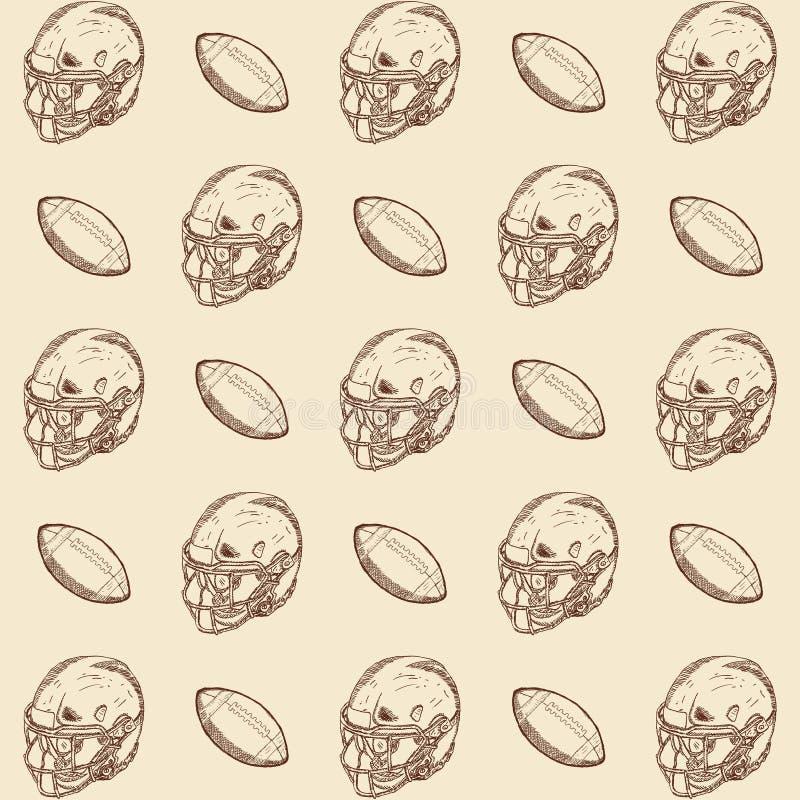 Doodle stylowego futbol amerykański ilustracyjną ilustrację w wektorowym formacie Zawiera tekst, hełm i piłkę ()- Wektor kartotek ilustracja wektor