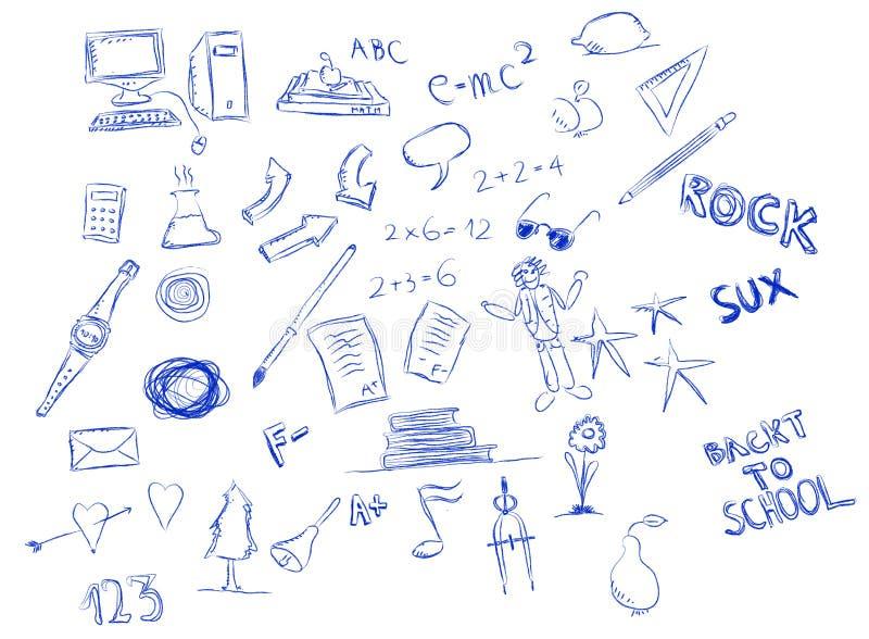 doodle szkoła obraz royalty free