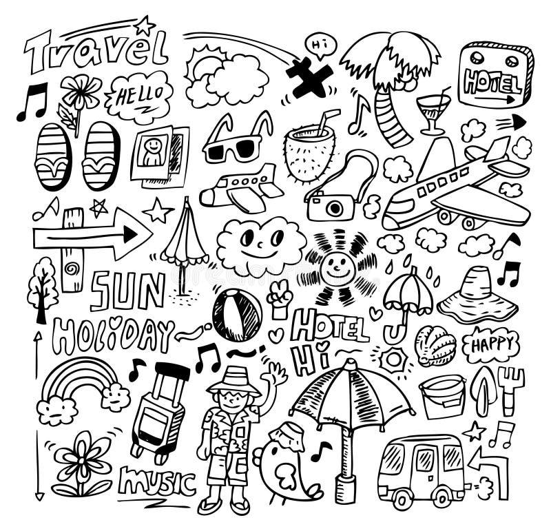 Download Doodle travel stock vector. Illustration of rest, elements - 16449213
