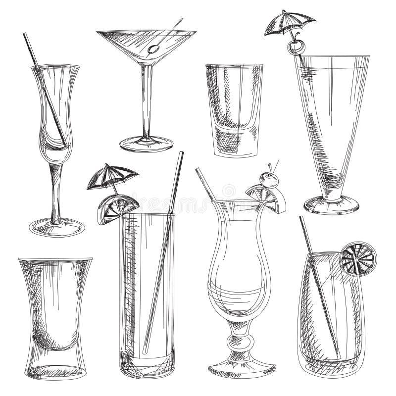 Doodle vector cocktails. Excellent vector illustration, EPS 10 royalty free illustration