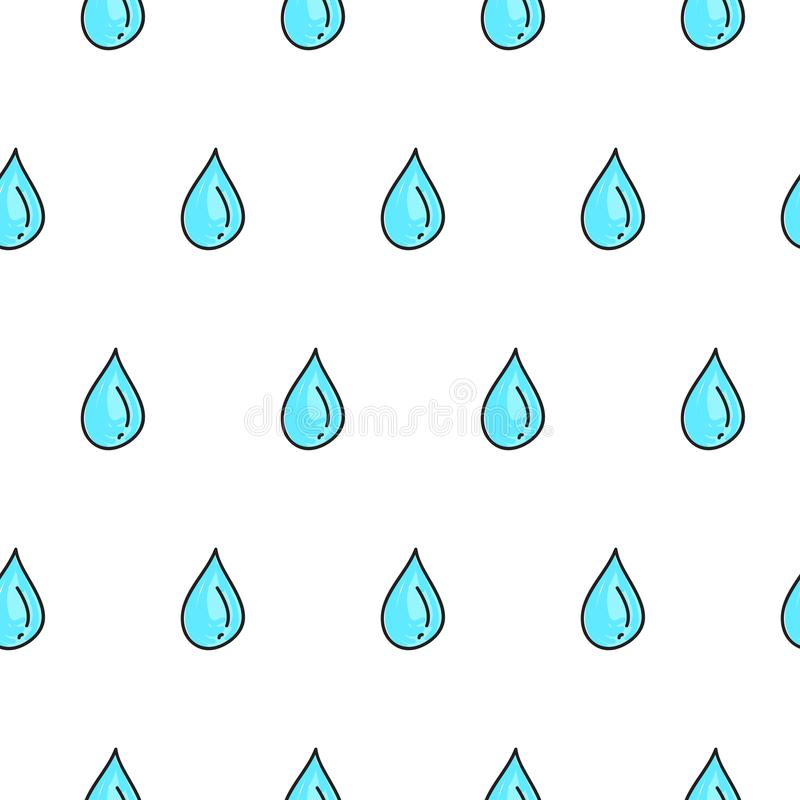 Doodle water droplets stock illustration