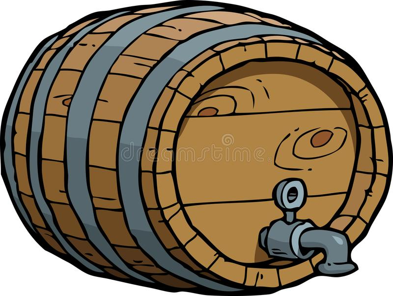 Doodle wine barrel royalty free illustration