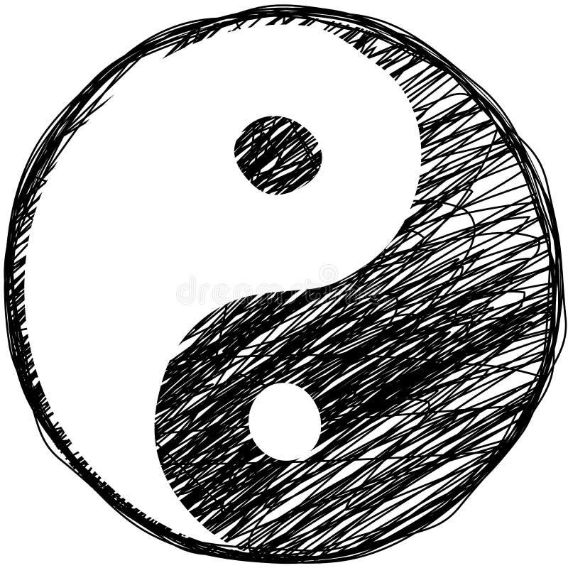 Download Doodle yin-yang symbol stock vector. Image of circle - 27637169