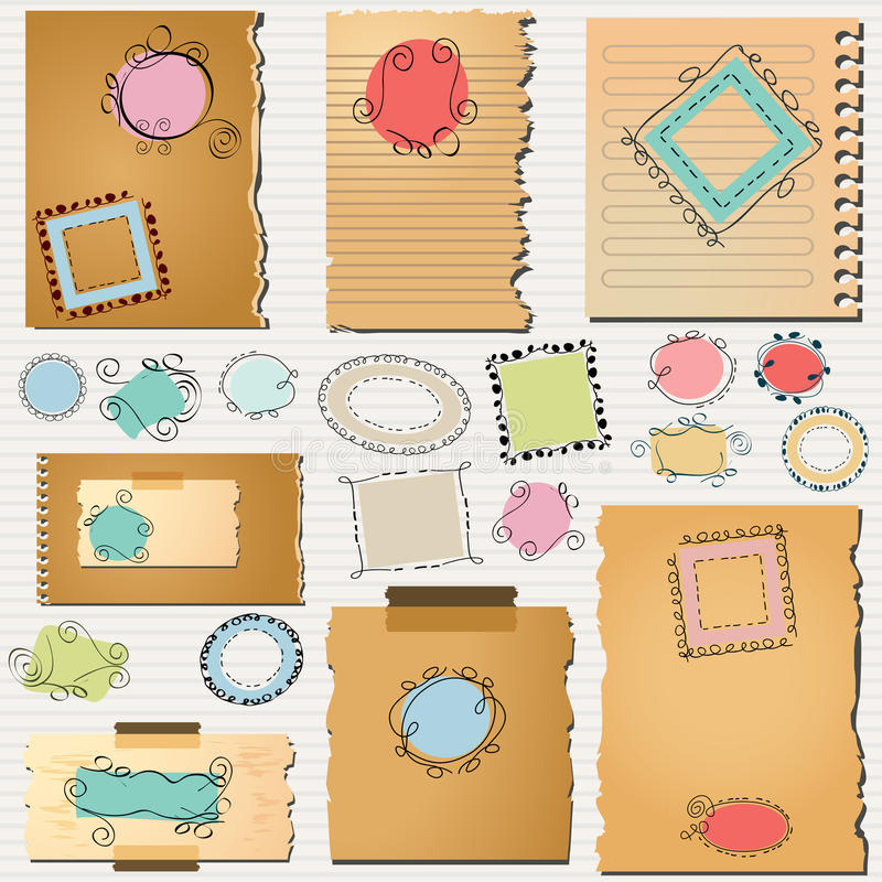 Download Layout templates pack stock vector. Image of labels, illustration - 29937624