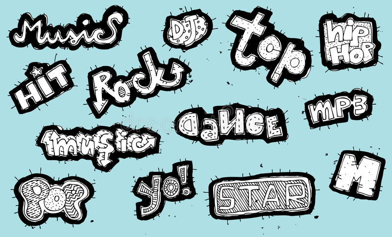 Download Doodled Musical Signs Collection Stock Photo - Image: 29987130