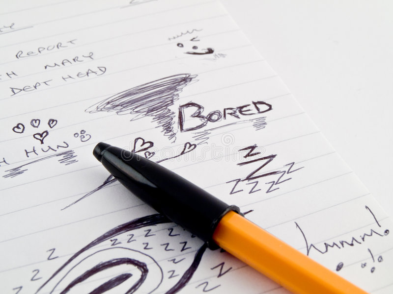 doodles εργασία σκίτσων γραφείων σημειωματάριων συνεδρίασης στοκ εικόνες με δικαίωμα ελεύθερης χρήσης