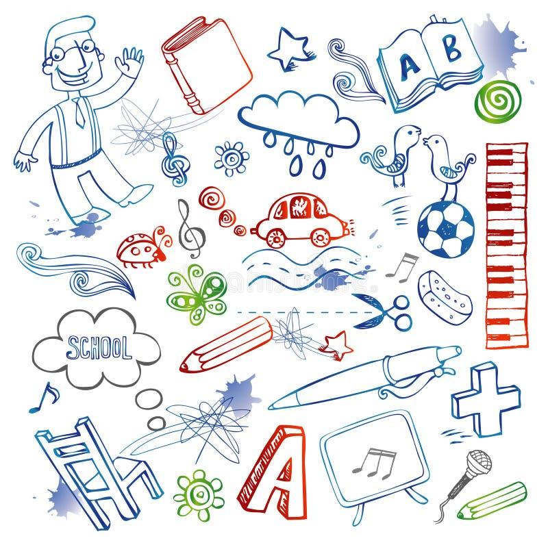 doodles θέστε διανυσματική απεικόνιση