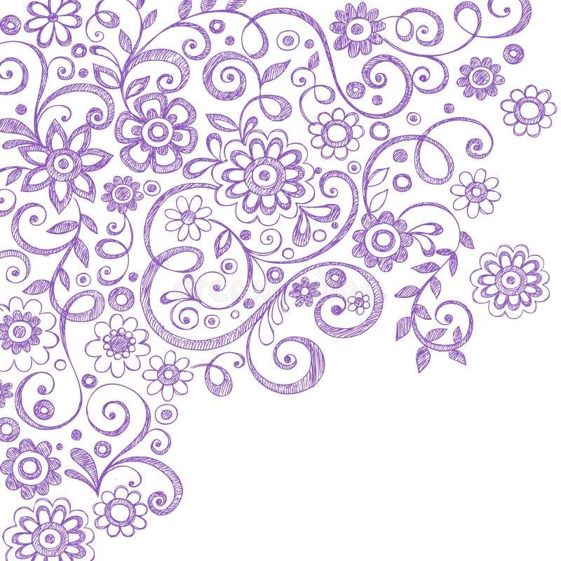doodles περιγραμματικές άμπελο& διανυσματική απεικόνιση