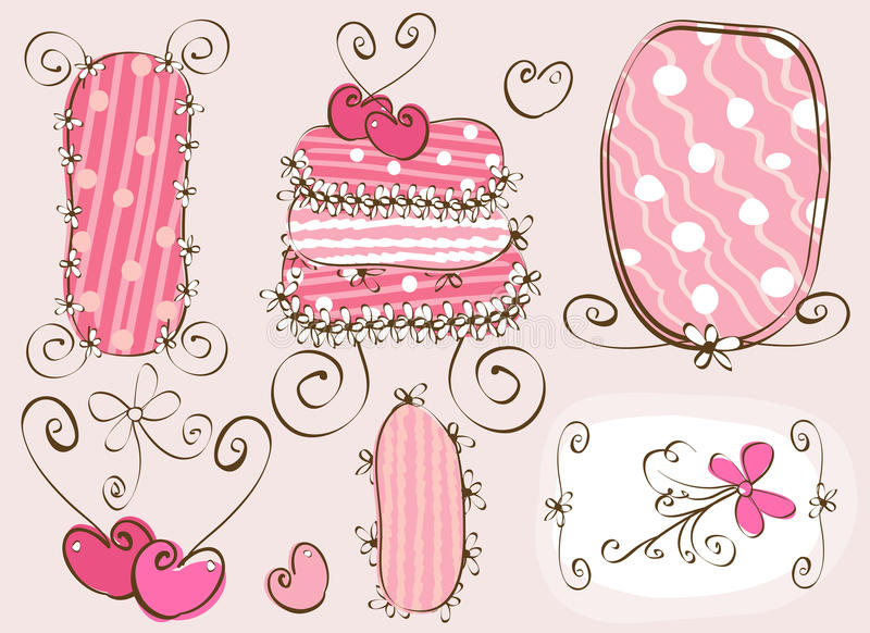doodles στοιχεία διανυσματική απεικόνιση