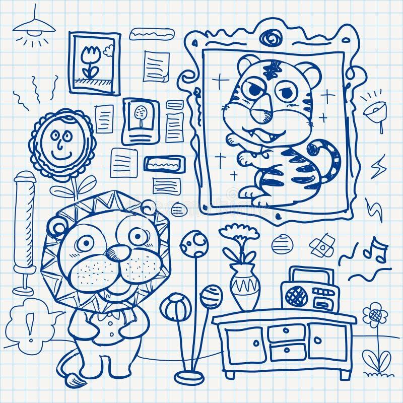 Doodles бумаги тетради иллюстрация штока