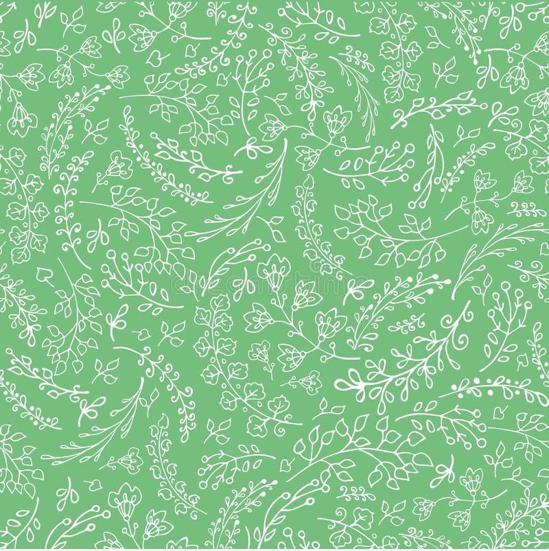 Doodles вручают вычерченным ветвям безшовную картину линейно бесплатная иллюстрация