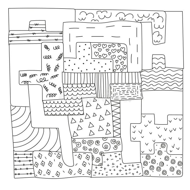 Doodles головоломки стоковые фотографии rf