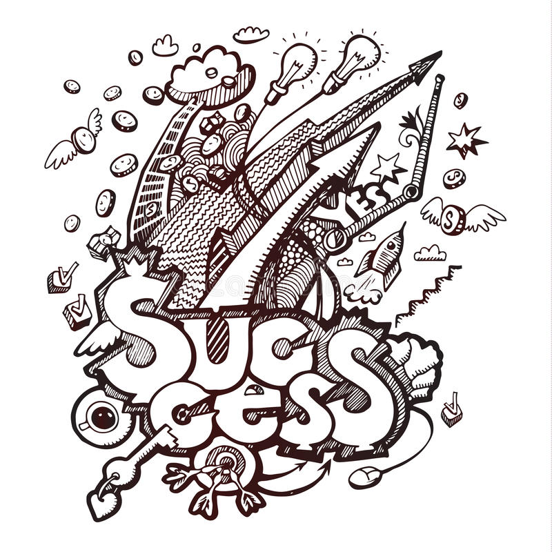 Doodles дела на белизне бесплатная иллюстрация