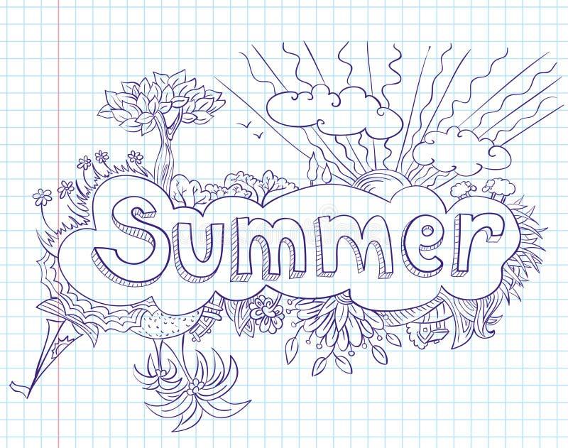 doodles лето бесплатная иллюстрация
