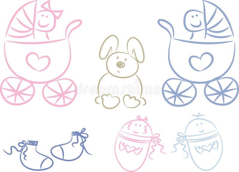 doodles младенца иллюстрация штока