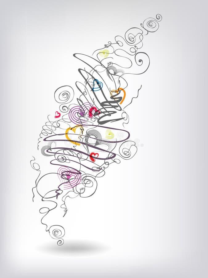 doodles нагрюют иллюстрация вектора