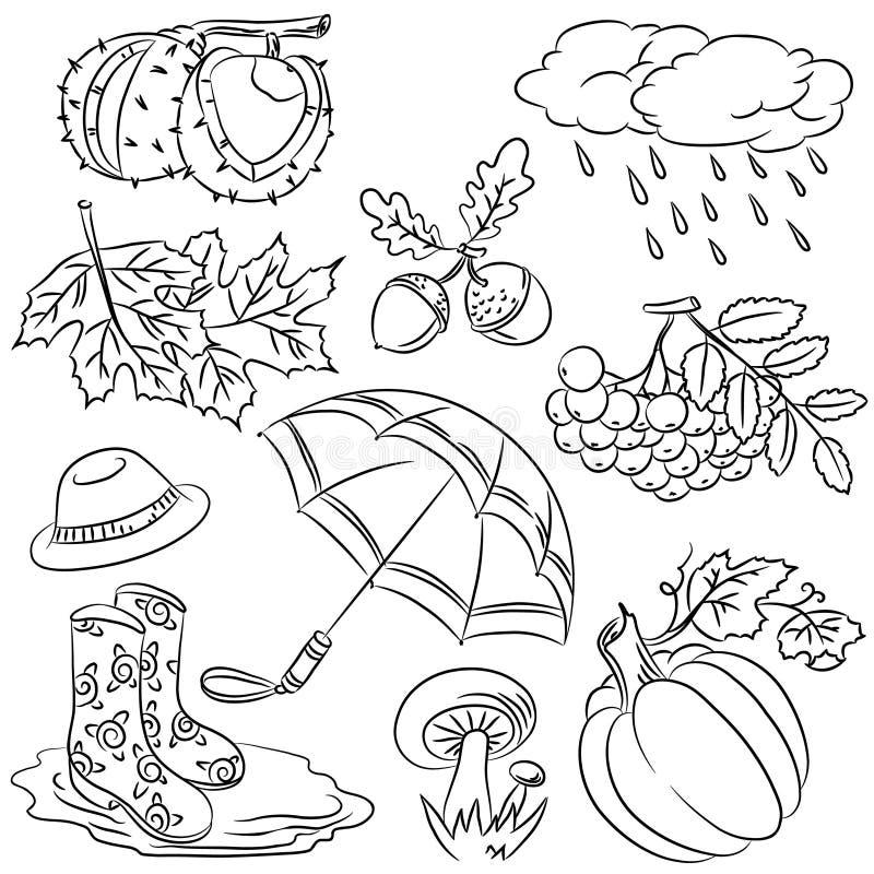 doodles осени иллюстрация вектора