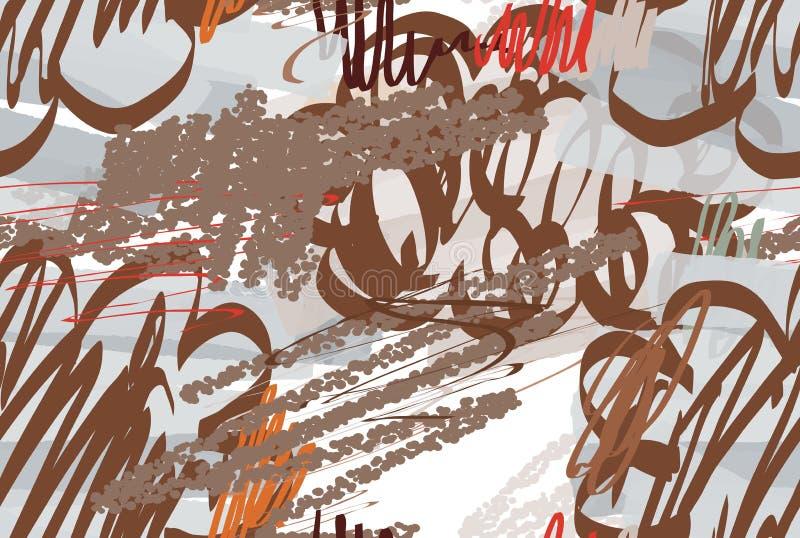 Doodles текстурированные Crayon с абстрактными облаками и щеткой отметки бесплатная иллюстрация