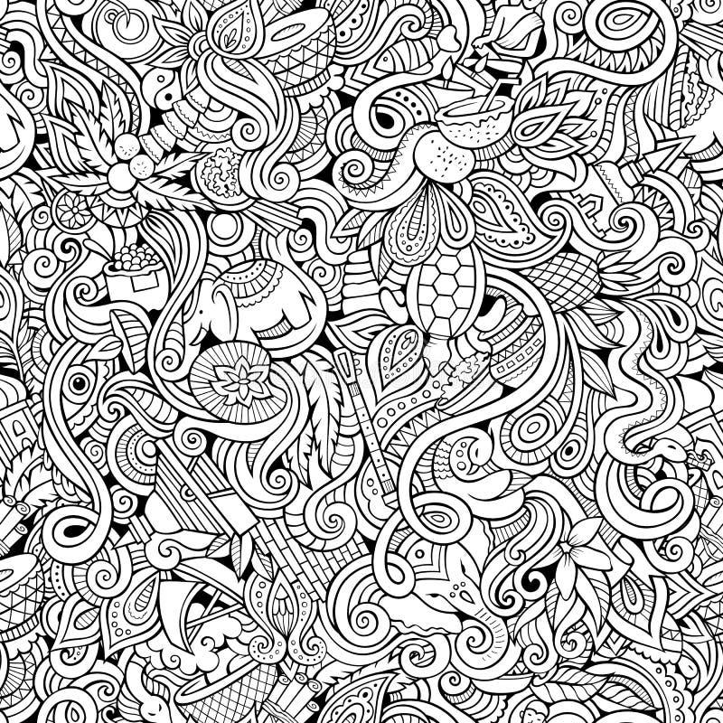Doodles шаржа нарисованные вручную на предмете бесплатная иллюстрация