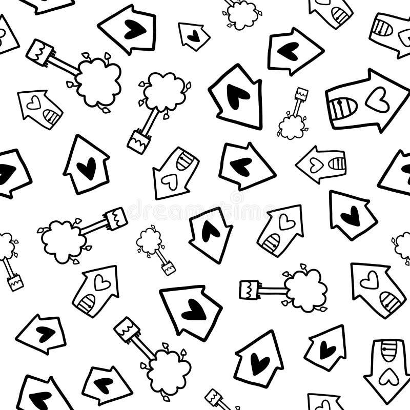 Doodles cute seamless pattern vector illustration