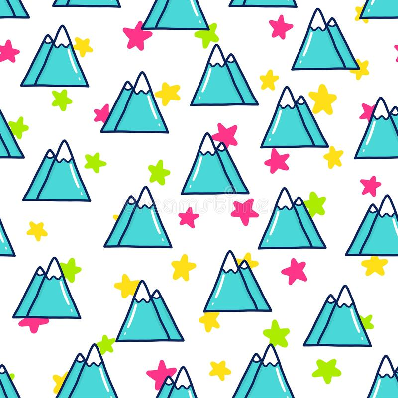Doodles cute seamless pattern stock illustration