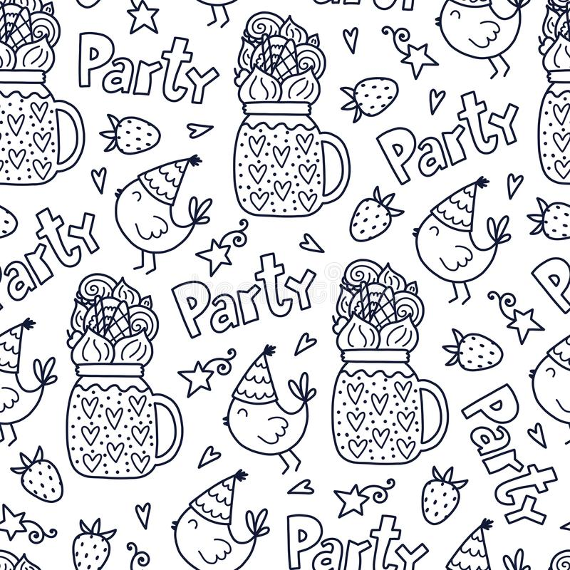 Vector doodles pattern vector illustration