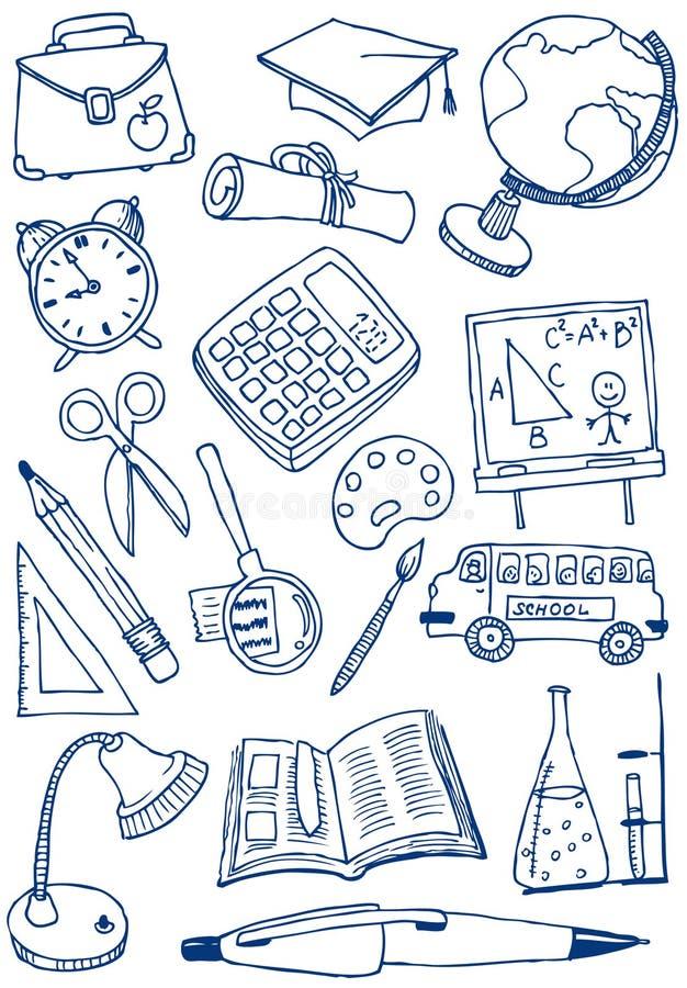 Doodles da instrução fotos de stock