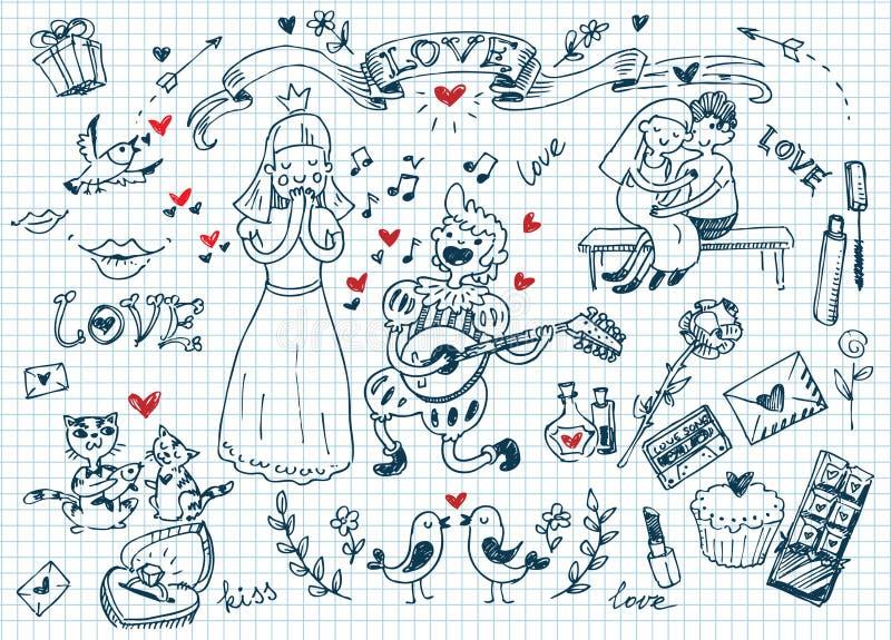 Doodles del amor libre illustration