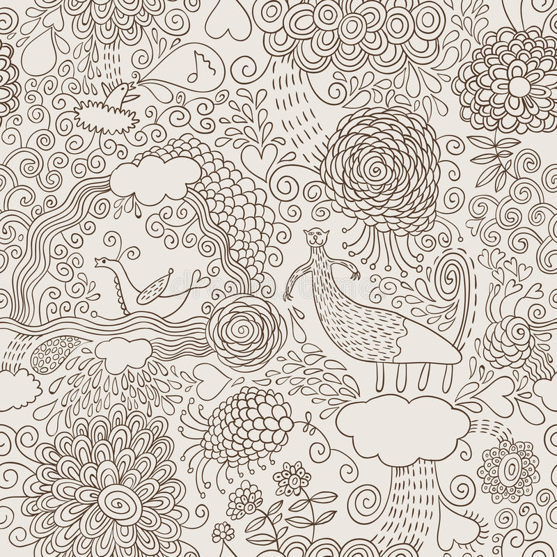 Doodles del drenaje de la mano ilustración del vector