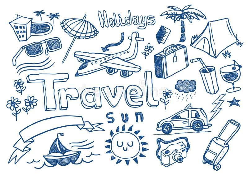 Doodles del recorrido stock de ilustración
