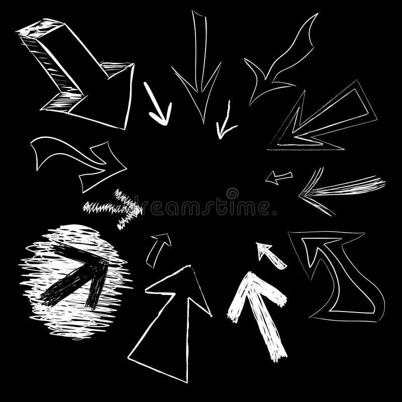 Doodles della freccia illustrazione di stock