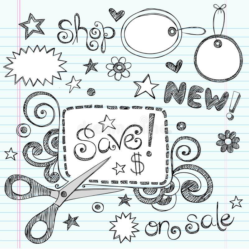 Doodles esboçado Hand-Drawn do vale ilustração do vetor