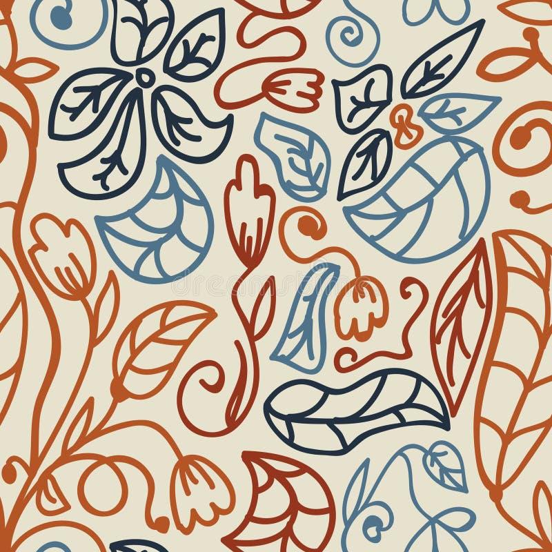 Doodles il reticolo senza giunte royalty illustrazione gratis