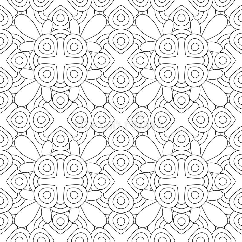 doodles mandala seamless pattern stock vector With repeating timer no2