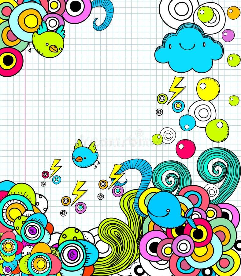 doodles notatnika obraz royalty free