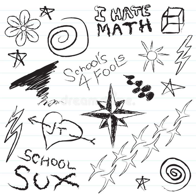 doodles notatnika szkoła ilustracja wektor